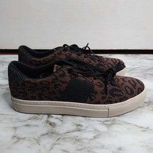 New GREATS Lace Up Leopard Sneakers size 8.5